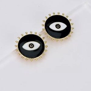 Evil Eye Boho Chic Statement Stud Earrings
